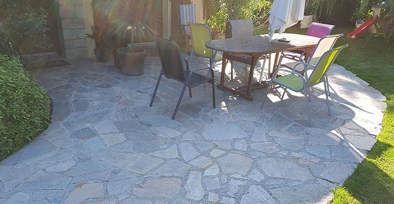 Terrasse pierres
